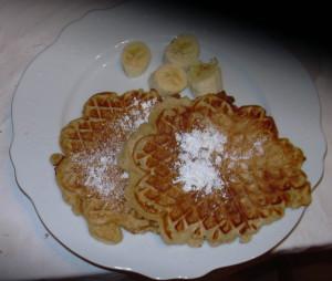 Kuchenmanie_Waffeln mit Bananen